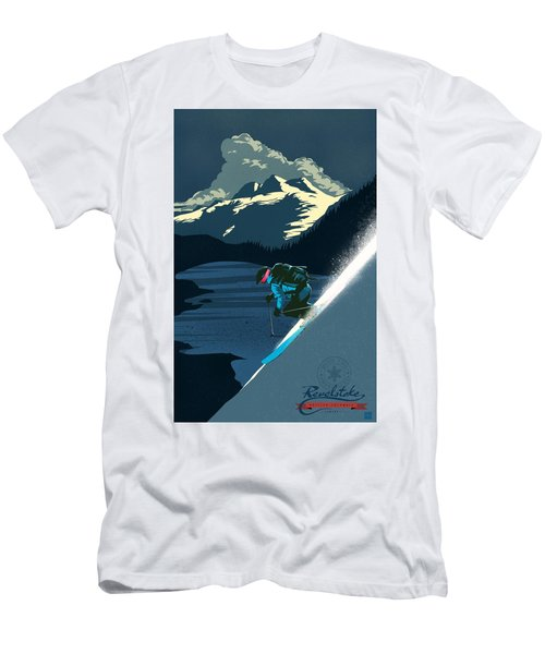 Retro Revelstoke Ski Poster Men's T-Shirt (Athletic Fit)
