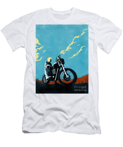 Retro Scrambler Motorbike Men's T-Shirt (Athletic Fit)