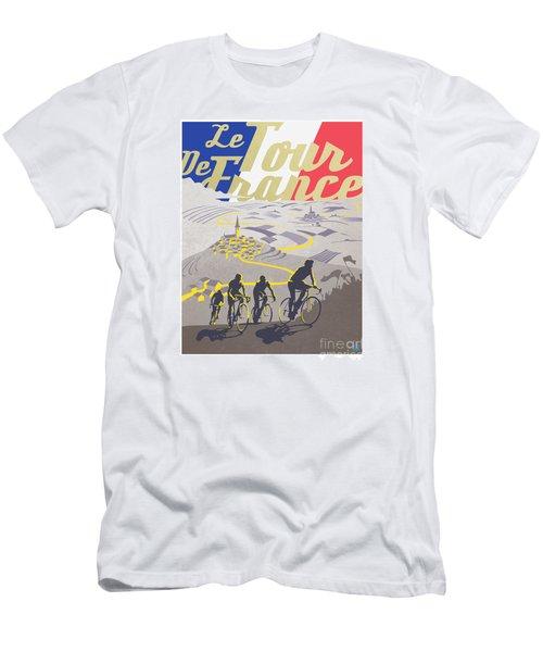 Retro Tour De France Men's T-Shirt (Athletic Fit)