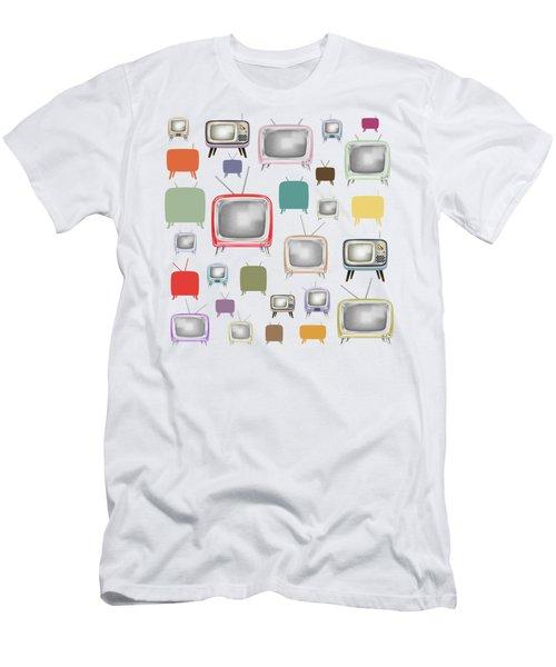 Retro T.v. Men's T-Shirt (Slim Fit) by Setsiri Silapasuwanchai