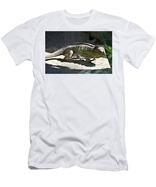 Men's T-Shirt (Athletic Fit) featuring the photograph Rhinoceros Iguana by Miroslava Jurcik