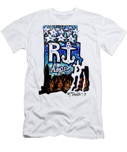 Rhode Island, Hope Men's T-Shirt (Athletic Fit)