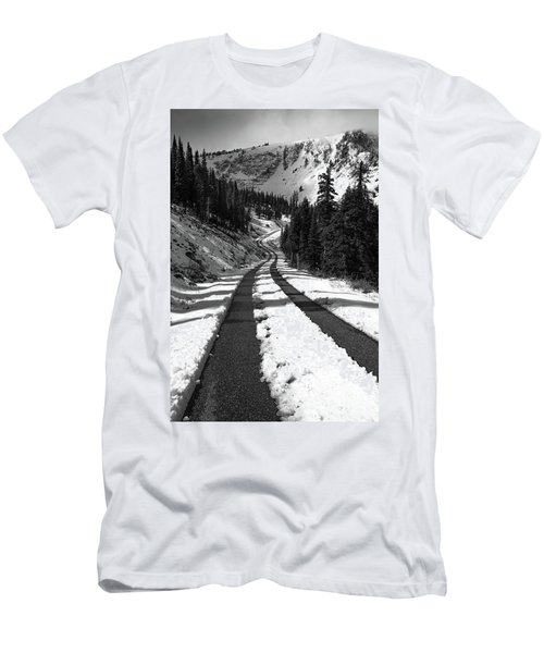 Ribbon To The Unknown Monochrome Art By Kaylyn Franks Men's T-Shirt (Athletic Fit)