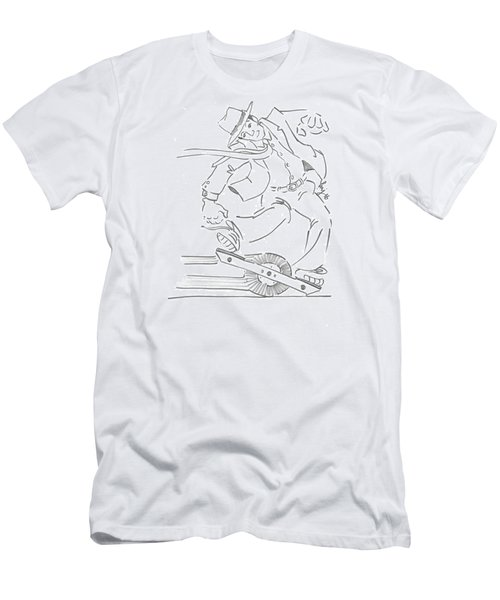 Ride One Wheel Cartoon - Never Be Late Again Men's T-Shirt (Athletic Fit)