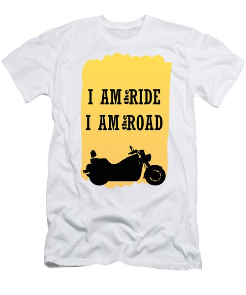 Rider Is The Ride Is The Road Men's T-Shirt (Athletic Fit)