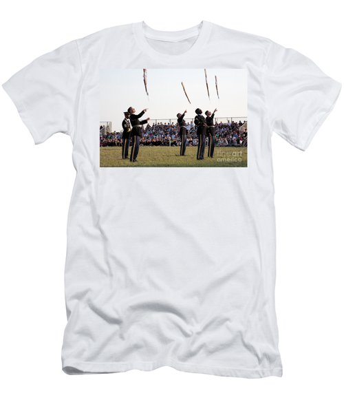 Rifle Toss By The Old Guard At The Twilight Tattoo  In Washington Dc Men's T-Shirt (Athletic Fit)