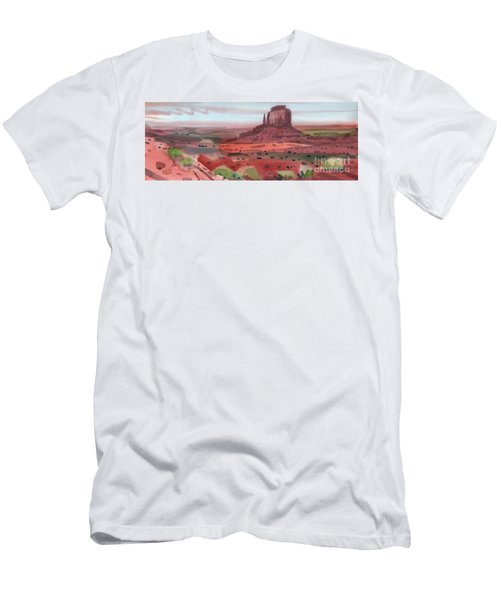 Right Mitten Panorama Men's T-Shirt (Slim Fit) by Donald Maier