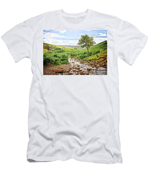 River And Stream In Weardale Men's T-Shirt (Athletic Fit)