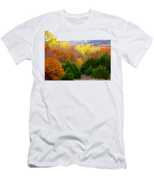 River Bottom In Autumn Men's T-Shirt (Athletic Fit)