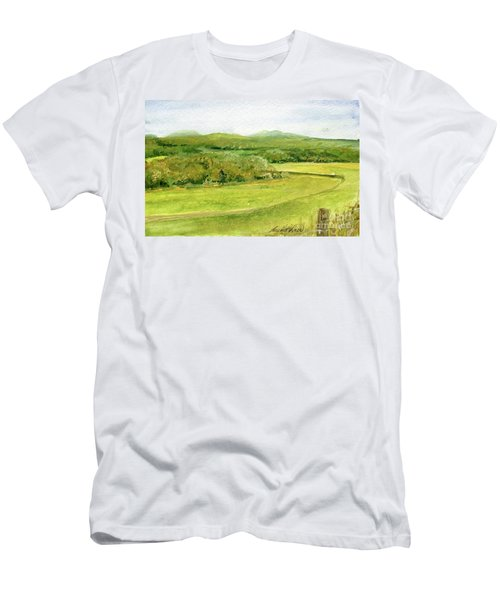 Road Through Vermont Field Men's T-Shirt (Athletic Fit)