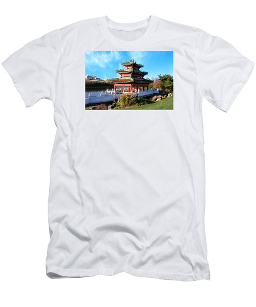 Robert D. Ray Asian Garden Men's T-Shirt (Slim Fit) by Kathy M Krause