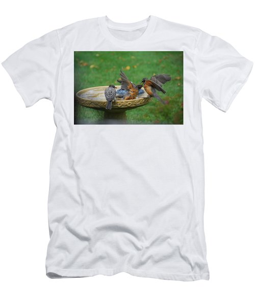 Robins Bathing Men's T-Shirt (Athletic Fit)