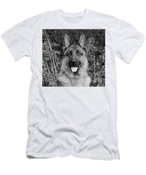 Men's T-Shirt (Slim Fit) featuring the photograph Rocco - Bw by Sandy Keeton