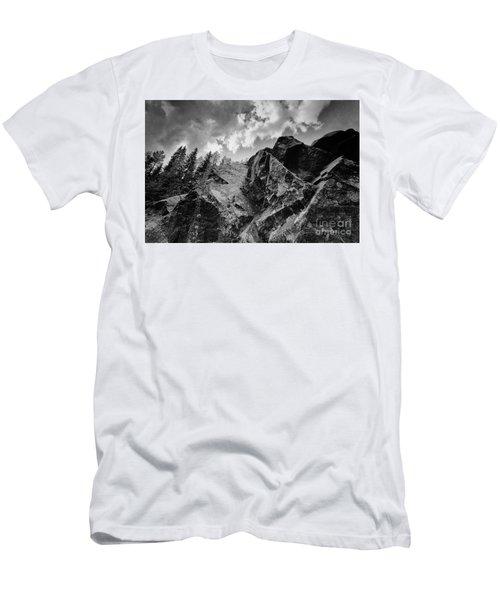 Rock #9542 Bw Version Men's T-Shirt (Slim Fit) by Andrey Godyaykin