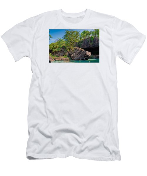 Rock And Trees Men's T-Shirt (Athletic Fit)