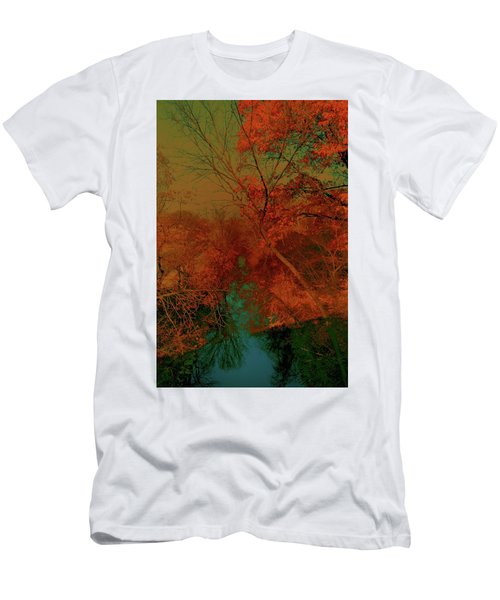 Men's T-Shirt (Athletic Fit) featuring the photograph Rock Creek At M by EDi by Darlene
