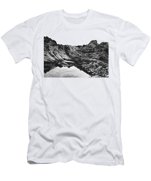 Men's T-Shirt (Slim Fit) featuring the photograph Rock by Rebecca Harman