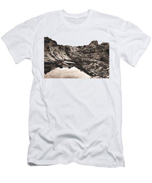 Rock - Sepia Men's T-Shirt (Slim Fit) by Rebecca Harman