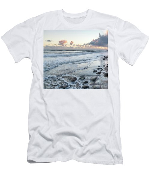 Rocks On The Beach During Sunset Men's T-Shirt (Athletic Fit)