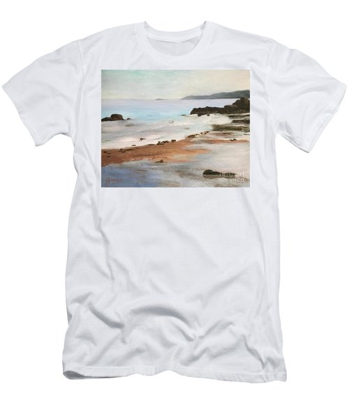 Rocky Neck Beach At Sunset Men's T-Shirt (Athletic Fit)