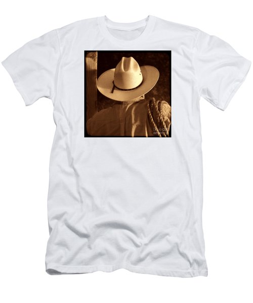 Rodeo Cowboy Men's T-Shirt (Slim Fit) by American West Legend By Olivier Le Queinec