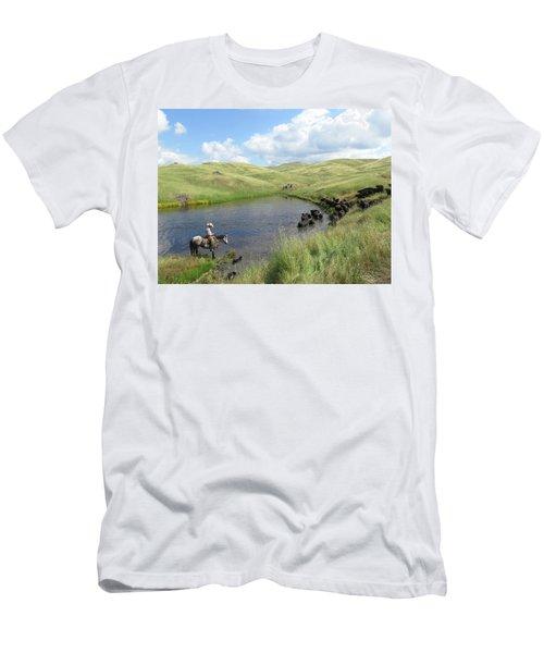 Rolling Hills Men's T-Shirt (Slim Fit) by Diane Bohna