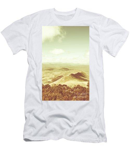 Rolling Rural Hills Of Zeehan Men's T-Shirt (Athletic Fit)