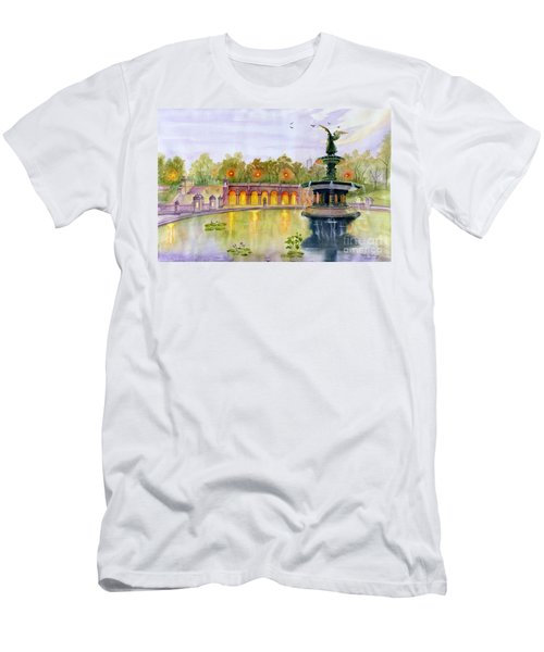 Romance At Central Park Nyc Men's T-Shirt (Athletic Fit)