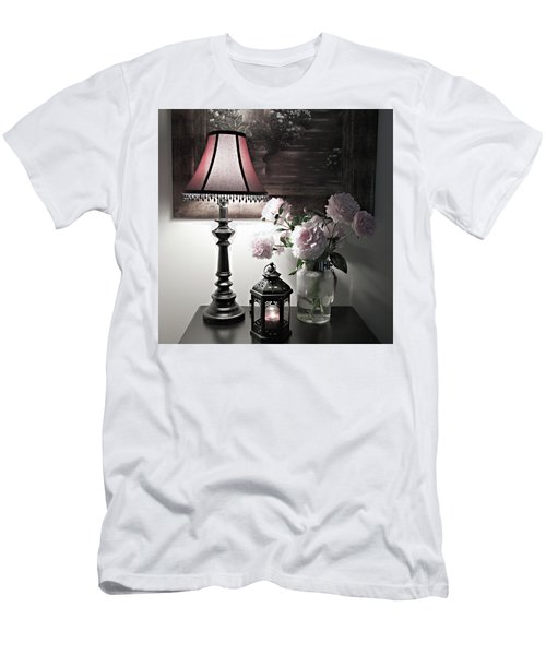 Men's T-Shirt (Slim Fit) featuring the photograph Romantic Nights by Sherry Hallemeier