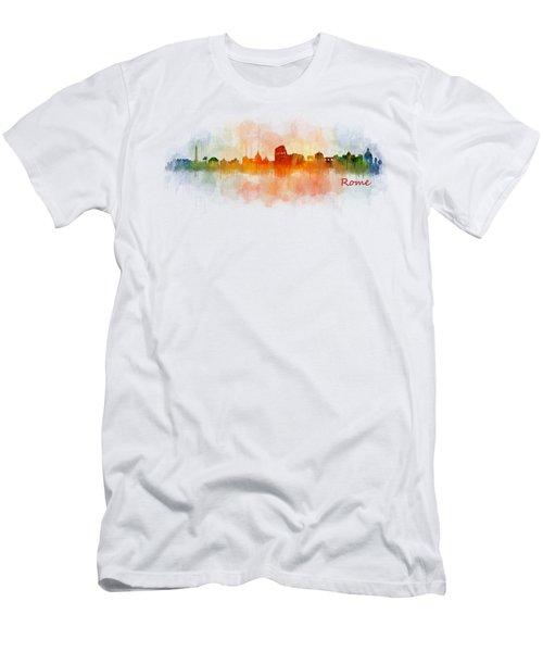Rome City Skyline Hq V03 Men's T-Shirt (Athletic Fit)