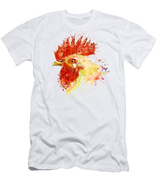 Rooster Head Men's T-Shirt (Athletic Fit)