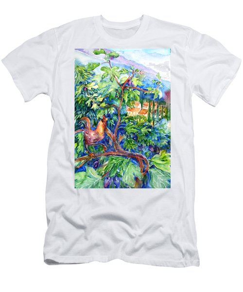 Rooster In A Fig Tree, Tuscany   Men's T-Shirt (Athletic Fit)