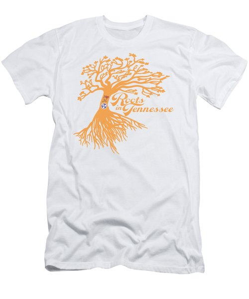Men's T-Shirt (Slim Fit) featuring the photograph Roots In Tn Orange by Heather Applegate