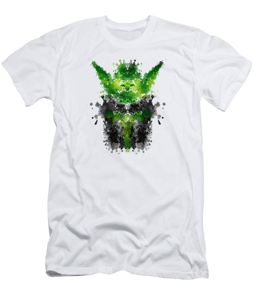Rorschach Yoda Men's T-Shirt (Athletic Fit)