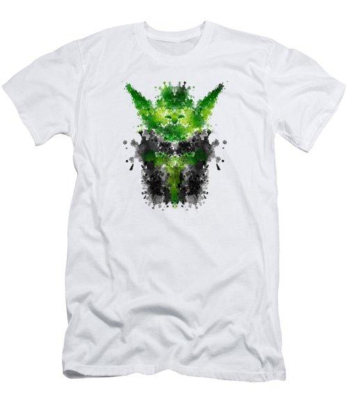 Rorschach Yoda Men's T-Shirt (Athletic Fit)
