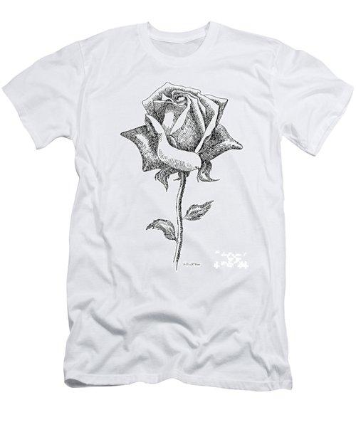 Rose Drawings Black-white 5 Men's T-Shirt (Athletic Fit)