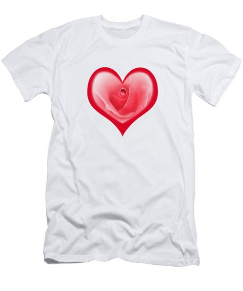 Rose Heart T-shirt And Print By Kaye Menner Men's T-Shirt (Slim Fit) by Kaye Menner