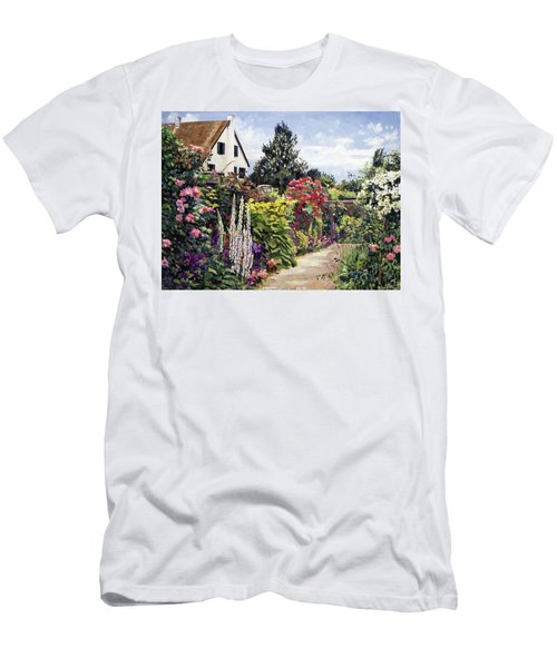 Rose House Garden Wall Men's T-Shirt (Athletic Fit)
