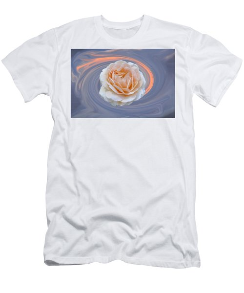 Rose In Swirl Men's T-Shirt (Athletic Fit)