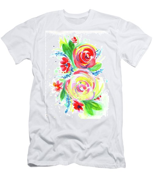 Rose Red Rose Yellow  Men's T-Shirt (Athletic Fit)