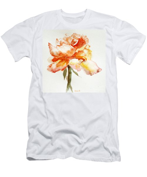 Rose Yellow Men's T-Shirt (Slim Fit) by Jasna Dragun