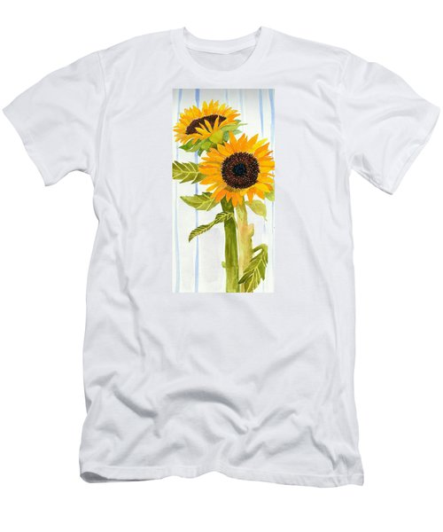 Rosezella's Sunflowers II Men's T-Shirt (Slim Fit) by Anne Marie Brown