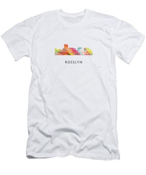 Rosslyn Virginia Skyline Men's T-Shirt (Athletic Fit)