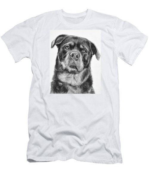 Rottweiler Drawing Titled Mama Men's T-Shirt (Slim Fit) by Kate Sumners