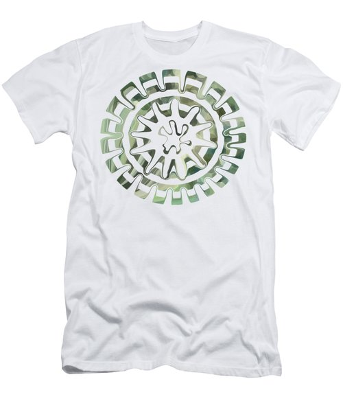 Round About Green Men's T-Shirt (Athletic Fit)