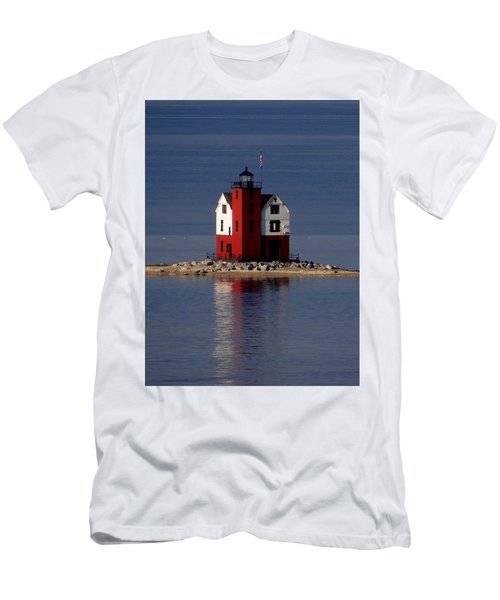 Round Island Lighthouse In The Morning Men's T-Shirt (Athletic Fit)