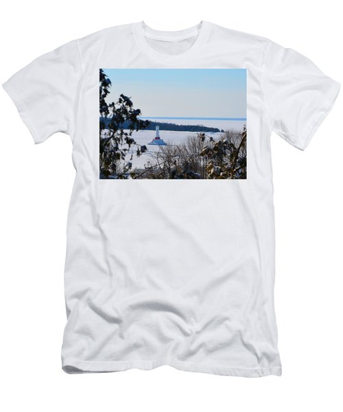 Round Island Passage Light Through The Trees Men's T-Shirt (Athletic Fit)