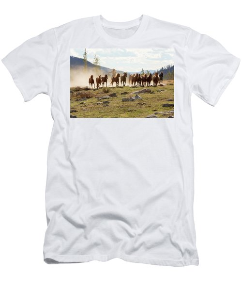 Men's T-Shirt (Slim Fit) featuring the photograph Round Up by Sharon Jones