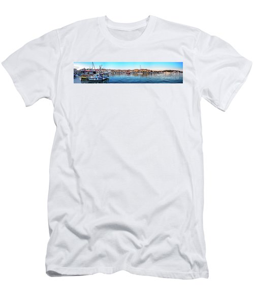 Rovinj Harbor And Boats Panorama Men's T-Shirt (Athletic Fit)