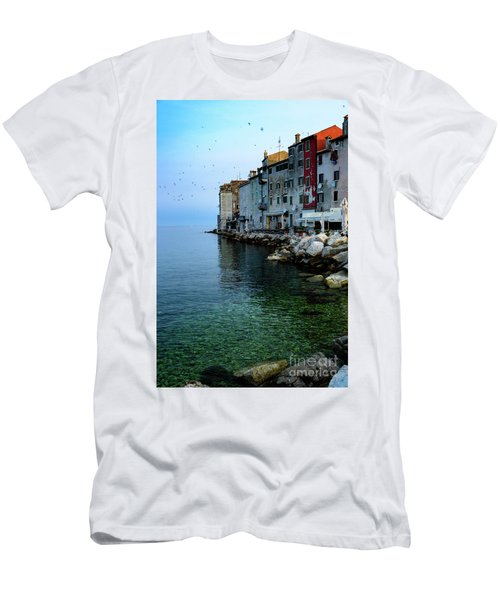 Rovinj Venetian Buildings And Adriatic Sea, Istria, Croatia Men's T-Shirt (Athletic Fit)